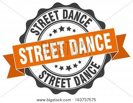 street dance. stamp. sign. seal. round. retro. ribbon