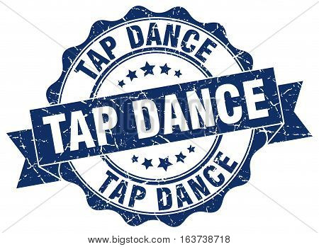 tap dance. stamp. sign. seal. round. retro. ribbon