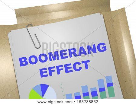 Boomerang Effect - Business Concept