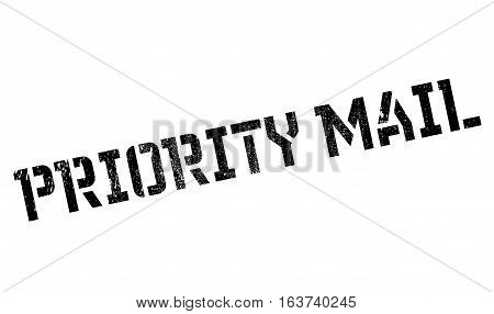 Priority Mail rubber stamp. Grunge design with dust scratches. Effects can be easily removed for a clean, crisp look. Color is easily changed.