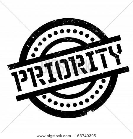 Priority rubber stamp. Grunge design with dust scratches. Effects can be easily removed for a clean, crisp look. Color is easily changed.