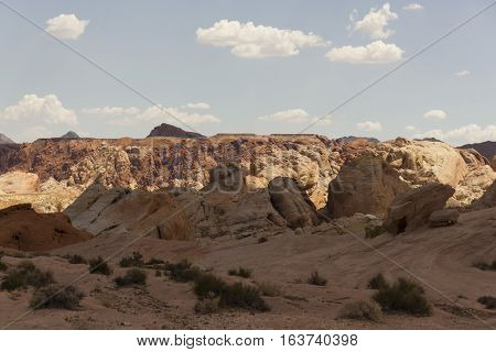 A desolated section of The Valley of Fire, Nevada