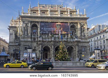 Budapest Opera House On Andrassy Avenue
