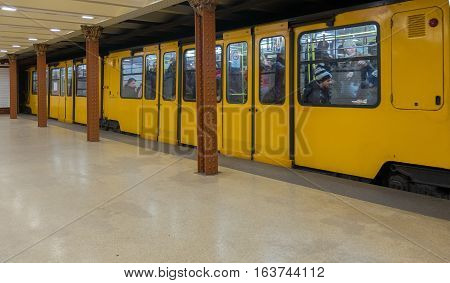 The Budapest Metro Is Oldest Electrified Underground Railway System On The European Continent