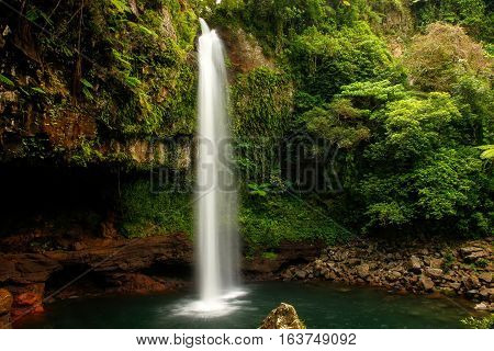 Lower Tavoro Waterfalls In Bouma National Heritage Park, Taveuni Island, Fiji