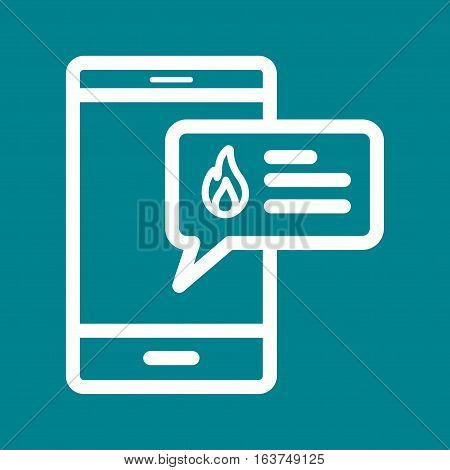 Alert, fire, safety icon vector image. Can also be used for firefighting. Suitable for use on web apps, mobile apps and print media.