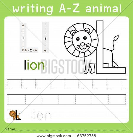 Illustrator of writing a-z animal l for kid