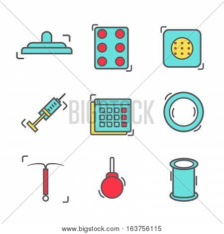 Contraception Methods Line Icon