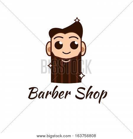 barbershop logo or icon vector illustration stock