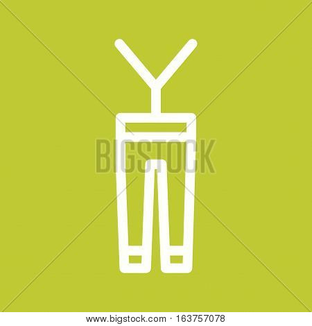 Pants, jeans, men icon vector image. Can also be used for oktoberfest. Suitable for use on web apps, mobile apps and print media