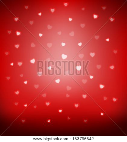 Vector illustration of Happy Valentine's day card hearts light vector background