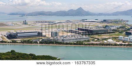 Hong Kong International Airport - Chek Lap Kok - Aerial view
