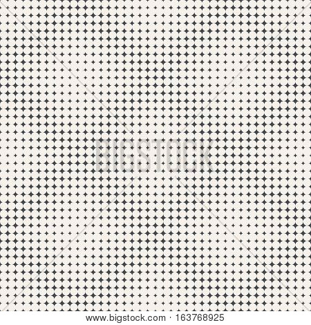 Seamless pattern. Abstract halftone background. Modern stylish texture. Repeating tiled rhombic grids with rhombuses of the different size. Gradation from bigger to smaller