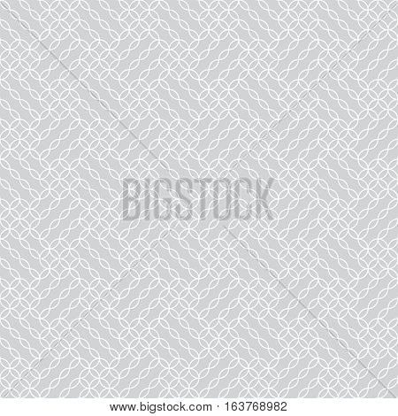 Vector seamless pattern. Modern stylish texture. Regularly repeating original geometric ornament with ovals ellipses rhombuses diamonds circles. Checkered grid. Trendy design