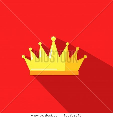 illustration of a crown on rred background with shadow