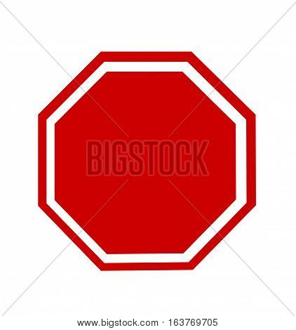 Blank Stop Sign on white background art