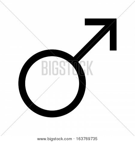 Male symbol icon - glyph style -  black filled style