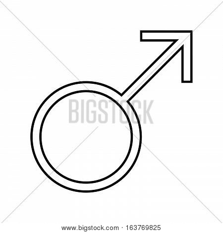 Male symbol icon - glyph style -  black outline style