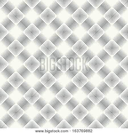 Seamless pattern. Art deco background. Modern stylish texture. Regularly repeating geometrical linear ornament with thin lines rhombuses. Vector element of graphical design