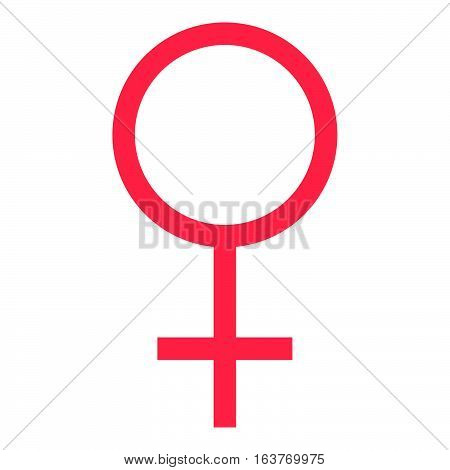 Female symbol icon - glyph style - Red