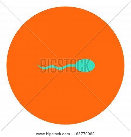 Spermatozoon icon - Rounded glyph style - orange and blue
