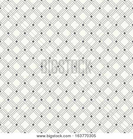 Seamless pattern. Classic abstract geometric background. Modern linear texture with thin lines. Regularly repeating geometrical tiled grid with rhombus diamond. Vector design