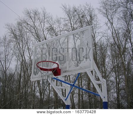 basketball, streetball, streetball winter, winter basketball, basketball in the street in the snow basket, basketball backboard in the snow