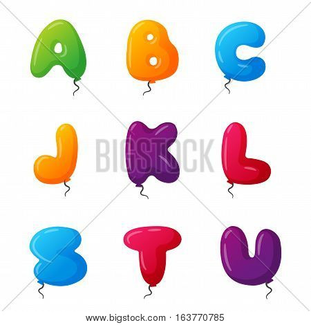English balloon colorful alphabet vector photo bigstock english balloon colorful alphabet on white background holidays and education ozone type greeting helium m4hsunfo