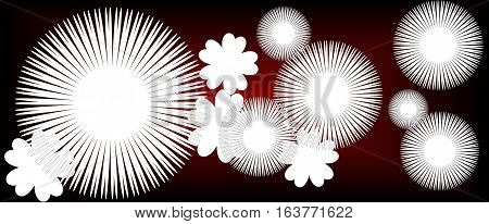 red abstract background with white flowers suitable as a container banners or bookmarks