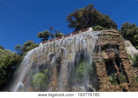 Nice France Waterfall On Hill Top