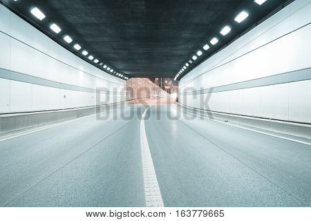 City Tunnel Road Viaduct Of Night Scene