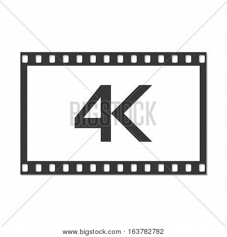 4k icon vector illustration. Modern video resolution.