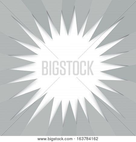 Modern sunburst summer background from hexagonal folded paper texture