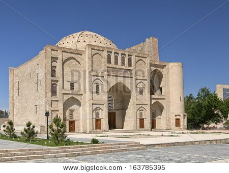 Khanqah Nadir Divan Begi in historical center of Bukhara, Uzbekistan