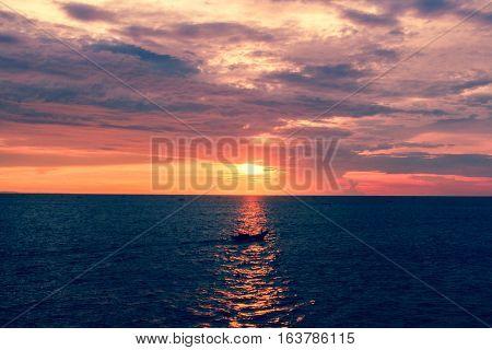 sunset on pangandaran with fisher go turn