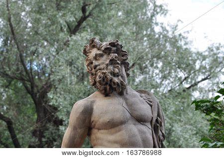 The sculpture of a centaur's head in Pavlovsk park