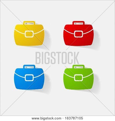 Sticker paper products realistic element design illustration portfolio