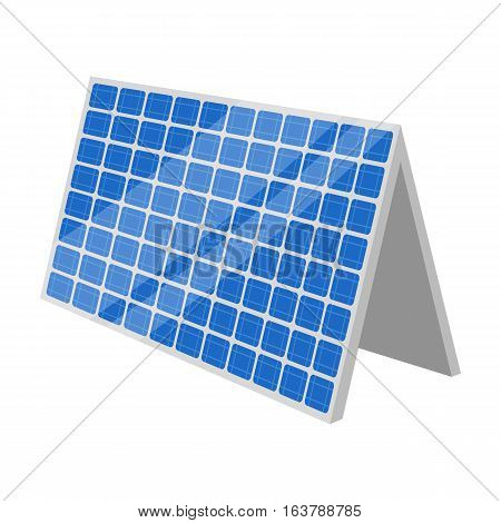 Solar panel icon in cartoon design isolated on white background. Bio and ecology symbol stock vector illustration.