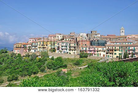 Village of Capoliveri on Elba Island in Tuscany,mediterranean Sea,Italy