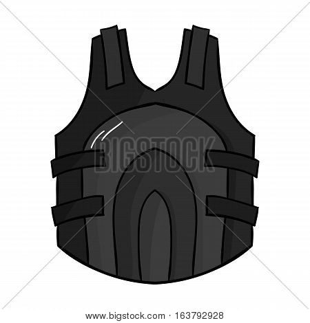 Paintball vest icon in cartoon design isolated on white background. Paintball symbol stock vector illustration.
