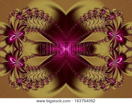 Flower magenta fractal pattern.