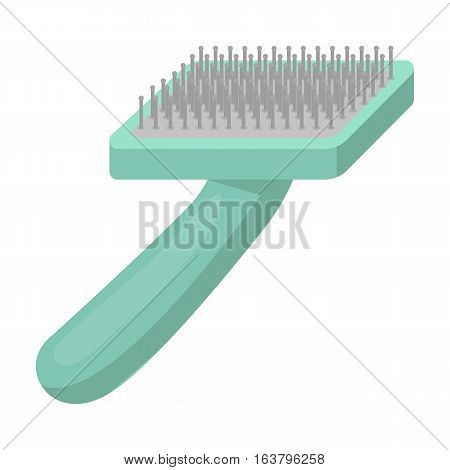 Brush for animal fur icon in cartoon design isolated on white background. Veterinary clinic symbol stock vector illustration.