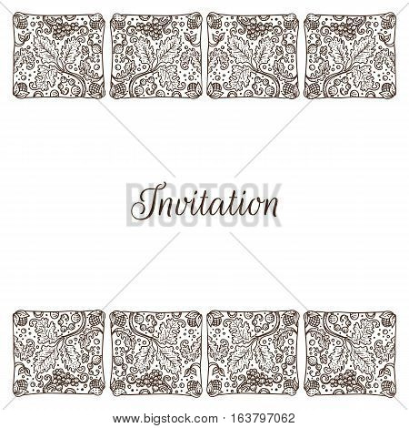 Traditional Holland background frame with copy space