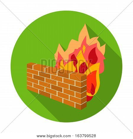 Firewall icon in flat design isolated on white background. Hackers and hacking symbol stock vector illustration.