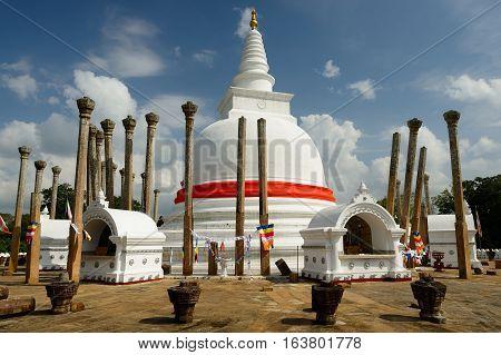 Thuparamaya dagoba (stupa) Anuradhapura on Sri Lanca