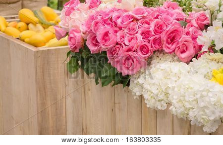 Bouquet of colorful paper flowers stock photo