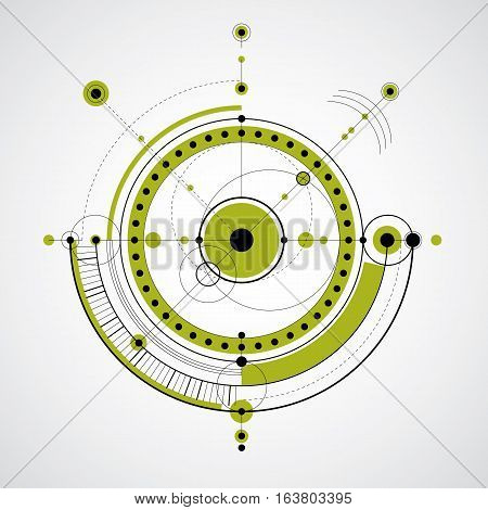 Vector engineering technological background futuristic technical plan mechanism. Mechanical scheme abstract industrial design can be used as website background.