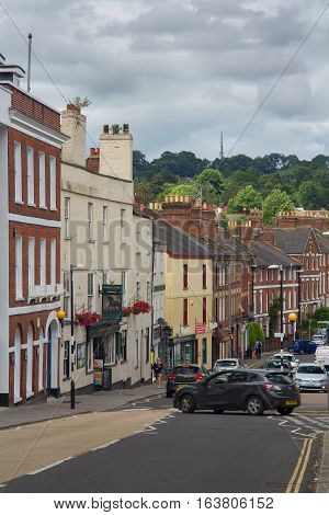 EXETER UK 11.07.2016: Longbrook Street. Devon. UK