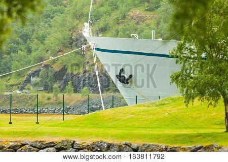 Cruise Ship On Dock, Norway