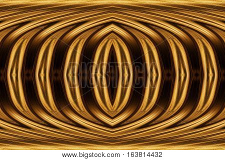 texture of black gold. Abstract seamless texture with an ellipse in the center. Fractal art background for creative design. Decoration for wallpaper desktop poster cover booklet card. Psychedelic.